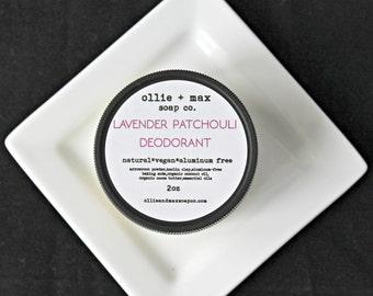Lavender Patchouli Vegan Cream Deodorant