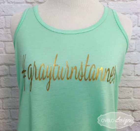 Personalized Custom Bridal Tank Top Flowy Racerback Mint Tank Printed in Metallic Gold!