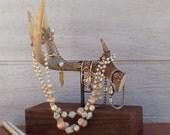 4 Tine Antler Jewelry Stand - antler jewelry box - rustic jewelry stand - rustic antler jewelry - unique jewelry stand - unusual jewelry box