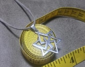 SALE   Star of David Stainless Steel Pendant Leather Cord Unisex Jewelry