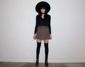 Plaid MINI SKIRT 90s School Girl GRUNGE Vintage Womens Size 28/29