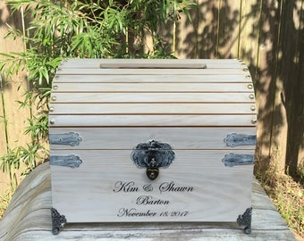 Large Wedding Card Box - 12 3/4 x 10 1/8 x 10 3/8 - Wedding Card Box With Lock - Wishing Well Box- Wedding Box - Personalized Wedding Box