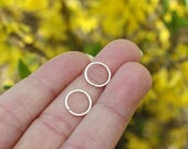 Silver Hoops - Seamless Hoops - Sterling Silver Hoop Earrings - Sterling Hoops - 10mm Hoops - 12mm Hoops - Minimalist - Artisan Jewelry