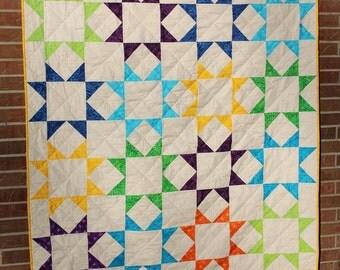 Homemade Batik Throw Quilt