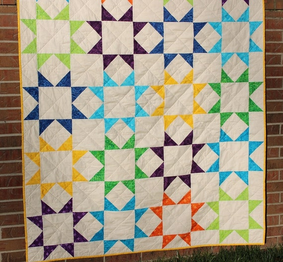 Handmade Batik Patchwork Throw Quilt