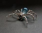 Watch Parts Spider Sculpture No 79 Recycled Watch Parts Clockwork Arachnid Figurine Stems Lightbulb Arthropod A Mechanical Mind Gershenson