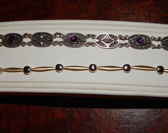 Vintage Silver and Amethyst Lot
