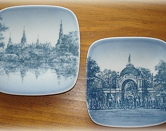 Mini Plate Wall Hangings Vintage Royal Copenhagen Bing Grondah Tivoli and Frederiksborg Slot