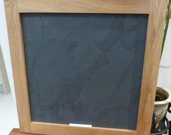 Natural oak framed slate board - chalk board - honed slate