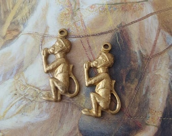 Vintage Awesome Messenger Monkey Charms So Cool