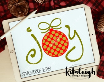 Joy-Ornament-INSTANT DOWNLOAD in .dxf, .svg, .eps for use with programs such as Silhouette Studio and Cricut Design Space
