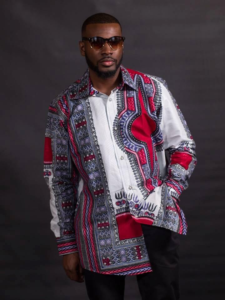 African clothing Black Dashiki For Men's African dashiki