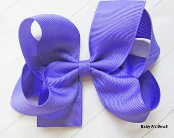 """Periwinkle Solid Hairbow, 5"""" Solid Hairbow, M2M Matilda Jane Bow, 5"""" Hairbow, Periwinkle Hairbow, Girls 5"""" Bow, Big Girls Bow, Solid Hairbow"""
