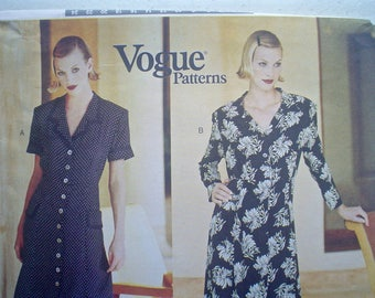 Vogue 1742 DKNY Dress Pattern Vogue American Designer Pattern Vintage Sewing Pattern