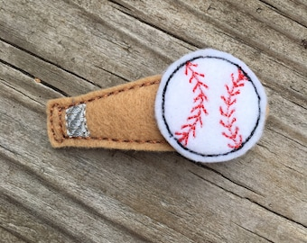 Baseball Bat Felt Snap Clip Hair Clip Babies, Toddlers, Girls