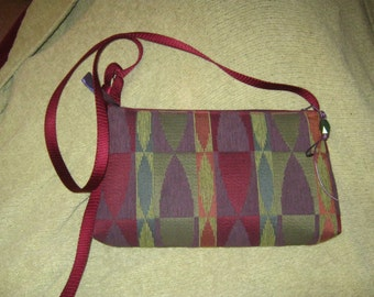 Upcycled Purple Shoulderbag or Clutch