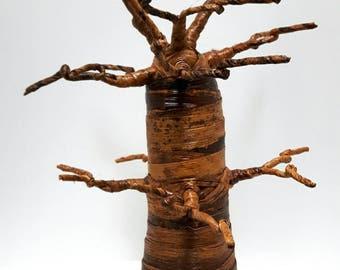 Baobab Jewelry Tree Stand - jewelry tree, Baobab tree, banana fiber tree, decorative tree, Kenyan made tree, baobab jewellery stand