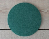 Round Felt Pad / Trivet - 6 inches - 100% Merino Wool  - 5mm Thick - German-milled - Rich, Lightfast Colors - Eco-Friendly - Dark Green