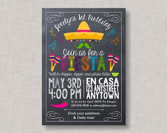 Fiesta Invitation, Fiesta Birthday Invitation, Fiesta Birthday Party for girls, Cinco de Mayo, Printable