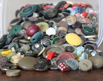 3lbs of Vintage Buttons