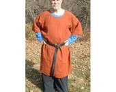 Linen Medieval Short Sleeve Tunic.  Basic and extended sizes.