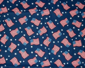 Patriotic Fabric, Americana Fabric, By The Yard, Fourth of July, Sewing Fabric, Crafting Fabric, Flag Fabric, Apparel Fabric