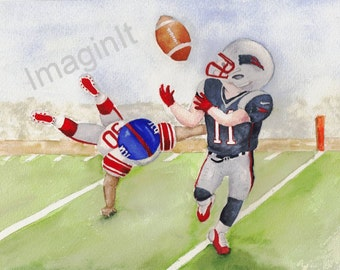 Patriots Action Print - 8x10/5x7  - Julian Edelman, New England, Football