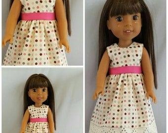 Polka Dots Galore...14 Inch Doll