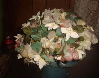 vintage ladies hat flowers colorful elizabeth adoria