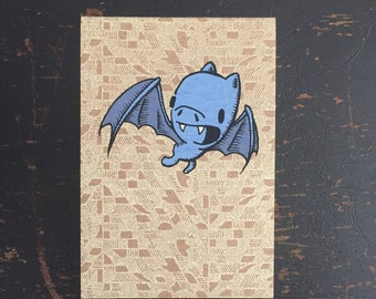 Bat Mini Sketchbook, bat notebook, kid's sketchbook, mini notebook, cute notebook, pocket sketchbook