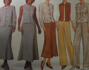 STRAIGHT LEG PANTS Pattern • Butterick 6215 • Miss 14-18 • A-Line Skirt Pattern • Princess Seam Jacket • Modern Patterns • WhiletheCatNaps