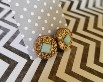 Ornate Turquoise studs
