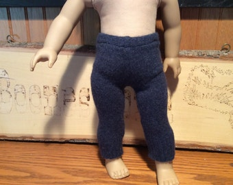 "Cashmere leggings fit American Girl, upcycled, 18"" doll clothes"