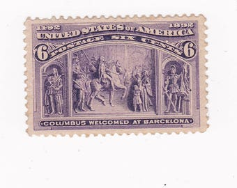 1893 Columbian 6 Cent US Postage Stamp 235