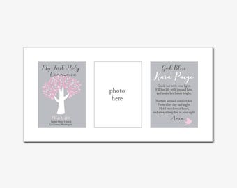 """First Communion Prints - Custom Personalized Design - Includes two 5""""x7"""""""