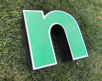 n - Reclaimed vintage letter - 16 inch - green channel