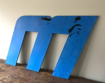 M - Reclaimed metal letter - XL