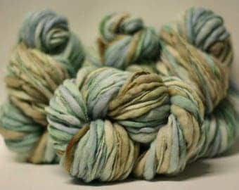 Yarn Chunky Hand Spun Thick and Thin Wool Slub Hand Dyed tts(tm) Variegated SAF17003