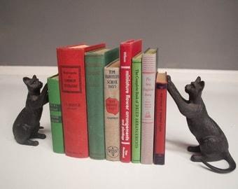 Vintage Cast Iron Cat Bookends
