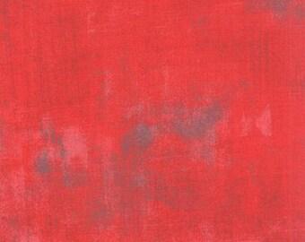 Fabric by the Yard -Grunge Basic in Geranium- by Basic Grey for Moda
