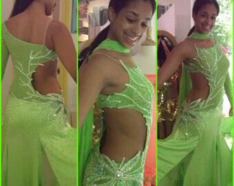 Green Ballroom Dance Dresses    Ballroom Dancing  Dresses