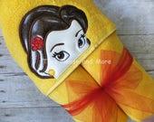 Belle Inspired Hooded Towel Pool Wrap