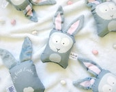 MY FIRST EASTER (option) bunny rattle softie for baby - Easter bunny - Bunny rabbit softie - Bunny rattle - Rabbit rattle - Baby rattle - Au