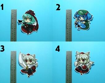 Touhou Project Art Sticker 9Pcs. Sanae, Kanako, Momiji, Aya, Hina, Suwako Free Shipping