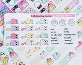 Kitty Plop~ Bad Day Event Stickers for All Planners
