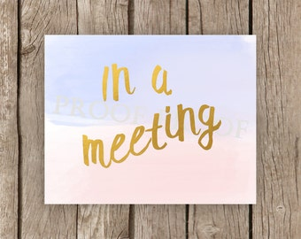 Meeting sign – Etsy