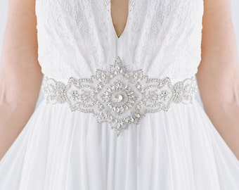 bridal belt -Orleans Sash Sb160121 - Ready To Ship