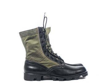 SALE 9 N | Vintage Vietnam Era Jungle Boots Combat Boots 1968 Dead Stock New Old Stock