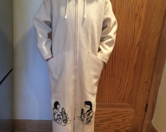 Northern Sun Canadian Crafted Winter Parka Coat - Native Canadian Motif Embroidery