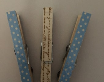 3 Clothespin Magnets- assorted